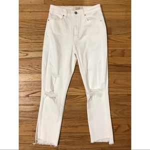 White Ankle Jeans—NEVER WORN